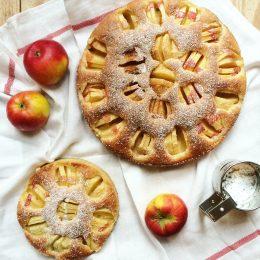 Ganz einfaches Apfelkuchen Rezept für Back-Nullen