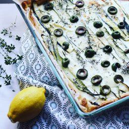 Zucchini Kuchen mit einem Hauch Frankreich