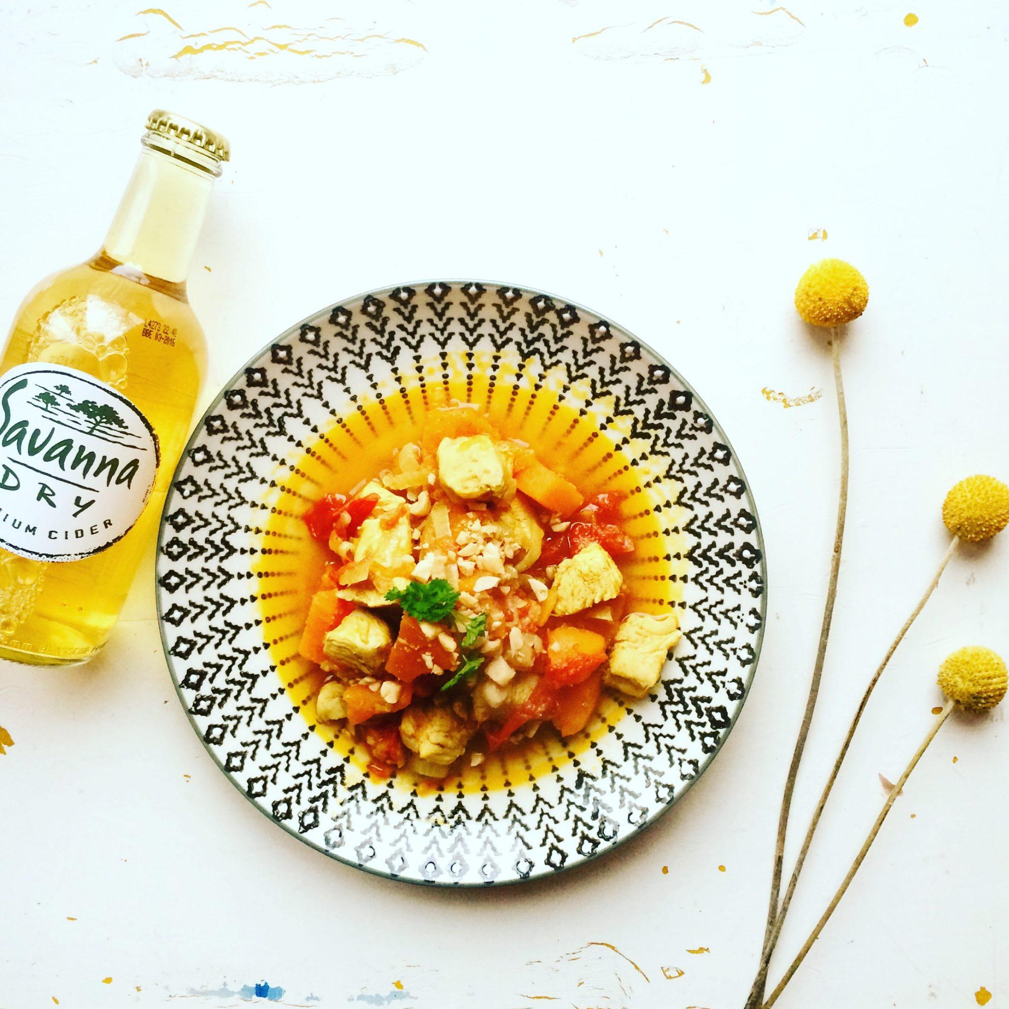 afrikanische Rezpt mit Süßkartoffel und Erdnuss