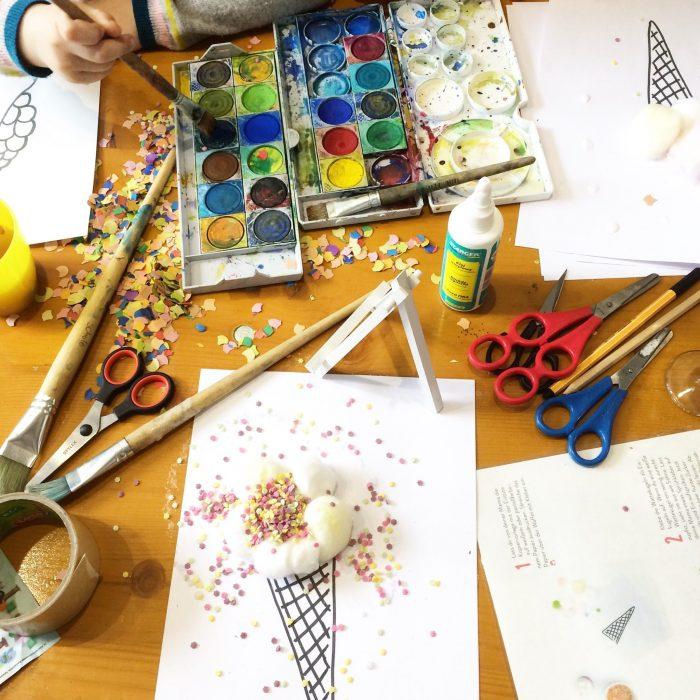 malen und basteln mit kindern