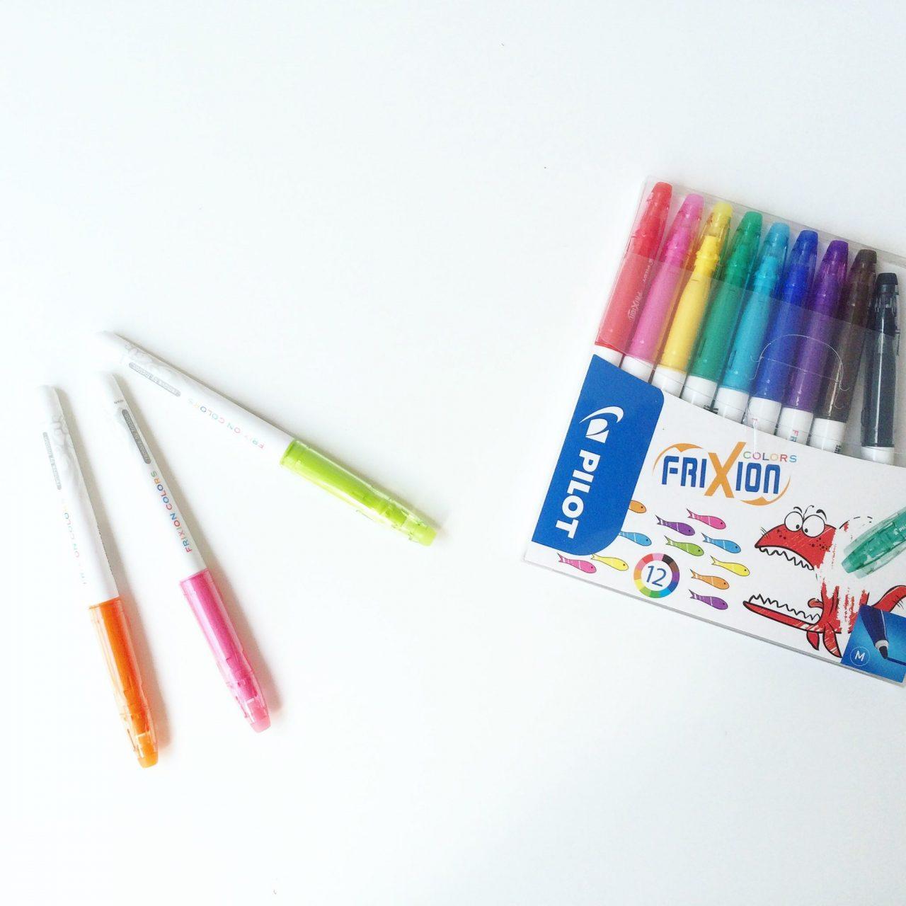 welche filzstifte sind f r kinder geeignet frixion colors im test sarahplusdrei. Black Bedroom Furniture Sets. Home Design Ideas