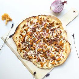 Rezept für Pizza mit Pfifferlingen – ich bin dann mal in Italien