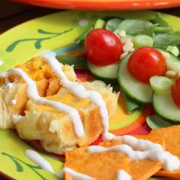 """Hallo Sommer – Süßkartoffel-Falafel-Strudel vom Familienblog """"Kinder kommt Essen!"""""""