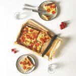 Super schnelle Tomaten Blätterteig Quiche