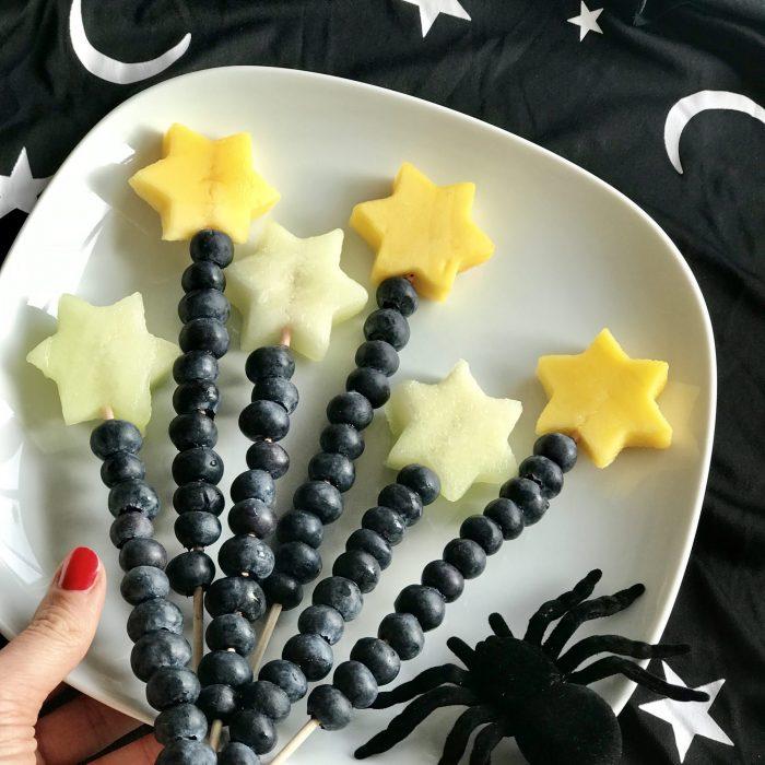 Hexe Zauberstab Obst Spinne