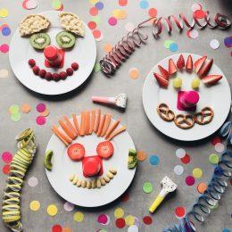 Die Clowns sind los – kleine, gesunde Snacks für Kinder
