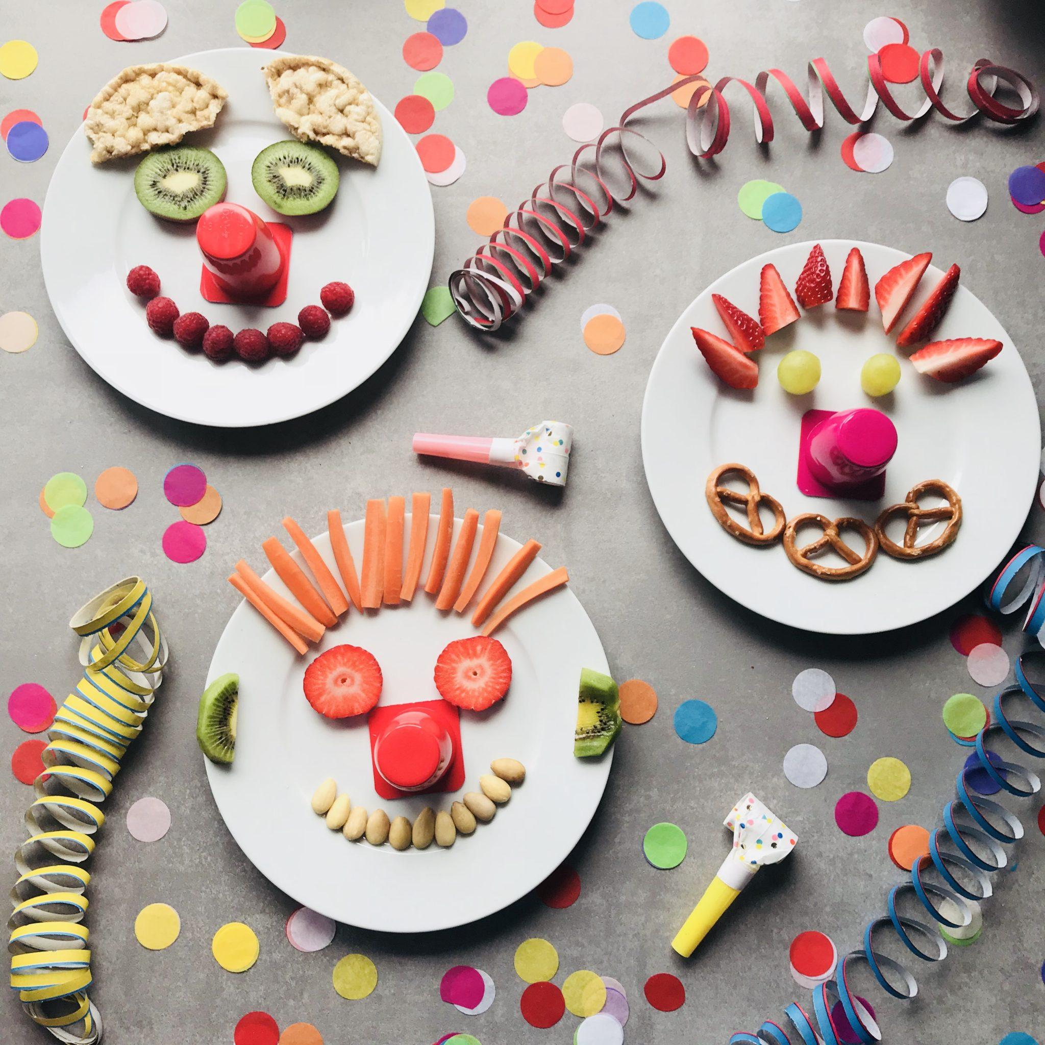 die clowns sind los kleine gesunde snacks f r kinder sarahplusdrei. Black Bedroom Furniture Sets. Home Design Ideas