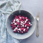 Rezept für Rote Bete-Couscous-Salat mit Ziegenkäse